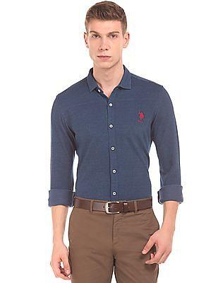 U.S. Polo Assn. Pique Knit Slim Fit Shirt