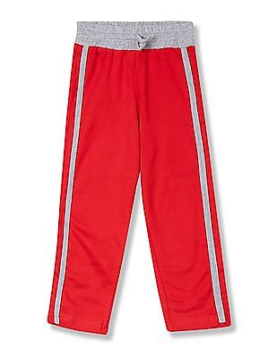 Day 2 Day Girls Contrast Seam Knit Track Pants
