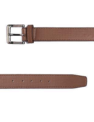 Colt Brown Metallic Buckle Textured Belt