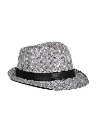 Day 2 Day Grey Boys Textured Fedora Hat