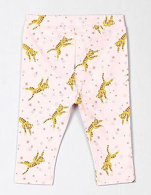 GAP Toddler Girl Pink Crop Leggings in French Terry