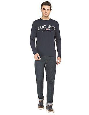 Gant Long Sleeve Brand Print T-Shirt