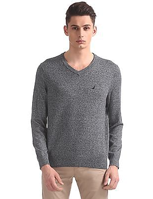 Nautica Jersey V-Neck Sweater