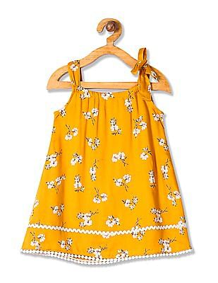Donuts Girls Printed A-Line Dress