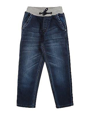 Cherokee Boys Drawstring Waist Slim Fit Jeans
