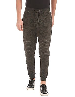 Flying Machine Regular Fit Camo Print Joggers
