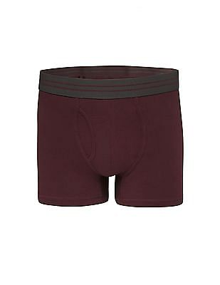 Aeropostale Solid Cotton Stretch Trunks