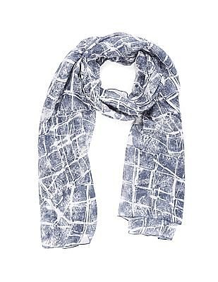 SUGR Blue Allover Print Stole
