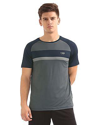 USPA Active Colour Blocked Raglan Sleeve Active T-Shirt