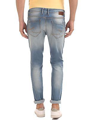 Izod Slim Fit Lightly Distressed Jeans