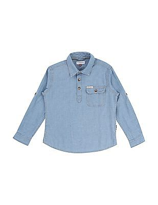 U.S. Polo Assn. Kids Boys Textured Popover Shirt