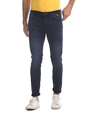 Flying Machine Blue Jackson Skinny Fit Dark Wash Jeans