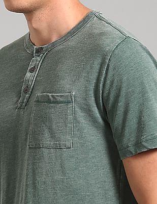 GAP Burnout Short Sleeve Pocket Henley