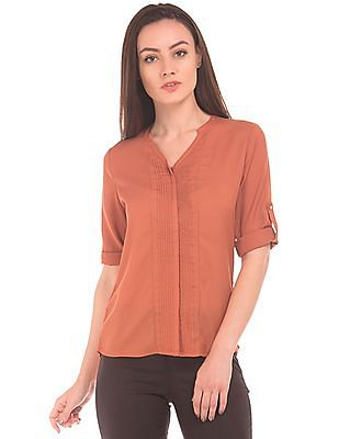 Arrow Woman Tucked Front Regular Fit Shirt