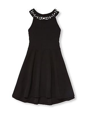The Children's Place Girls Sleeveless Jewel Neck Knit Dress