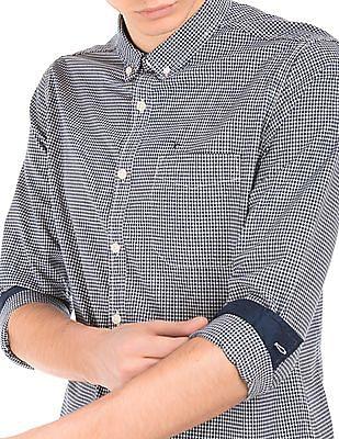 Flying Machine Button Down Collar Check Slim Fit Shirt