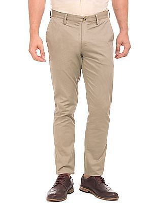 U.S. Polo Assn. Slim Fit Flat Front Chinos