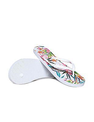 Aeropostale Tropical Printed Flip Flops