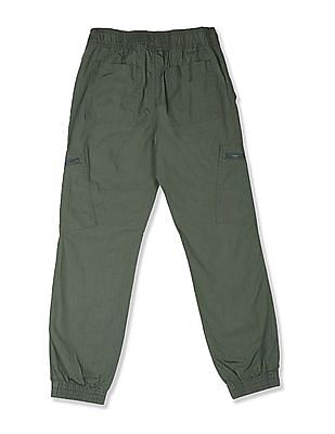 The Children's Place Green Boys Solid Woven Joggers