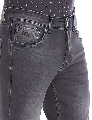 Flying Machine Grey Prince Slim Fit Stone Wash Jeans