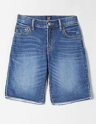 GAP Boys Stone Wash Denim Shorts