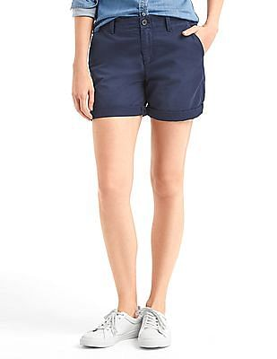 GAP Women Blue Girlfriend Chino Shorts