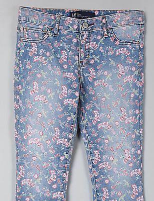 GAP Girls Wearlight Favorite Jeggings In Floral Print
