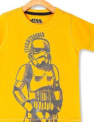 Colt Yellow Boys Crew Neck Stormtrooper Graphic T-Shirt
