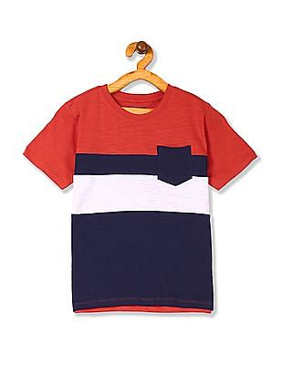 Cherokee Boys Crew Neck Striped T-Shirt