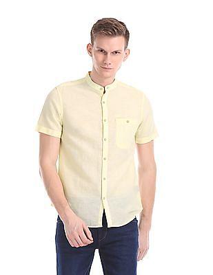 Ed Hardy Slim Fit Mandarin Collar Shirt