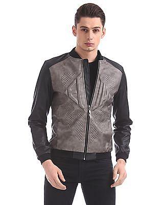 Ed Hardy Textured Bomber Jacket