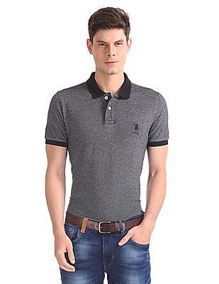 U.S. Polo Assn. Regular Fit Melange Polo Shirt