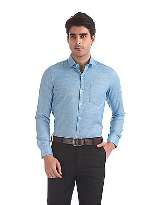 Excalibur Patterned Weave Long Sleeve Shirt - Pack Of 2
