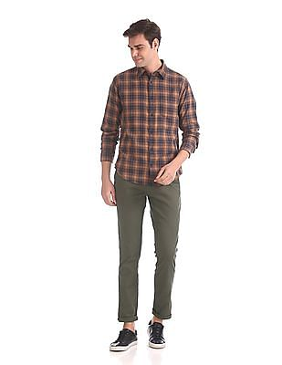 Ruggers Tapered Fit Patterned Weave Trousers