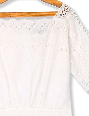 Gant Lace Broderie Anglais Voile Dress