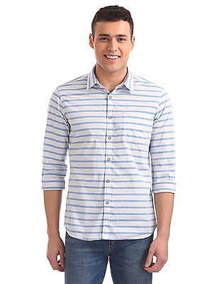 Flying Machine Standard Fit Striped Shirt