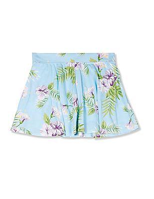 The Children's Place Blue Girls Matchables Print Knit Skort