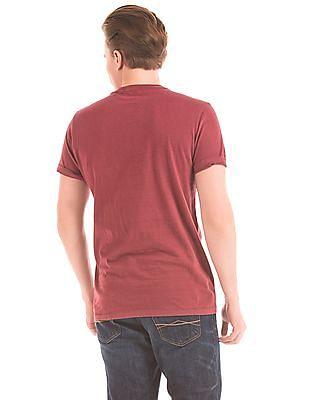 Aeropostale Appliqued Front Crew Neck T-Shirt