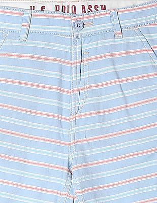 U.S. Polo Assn. Kids Boys Standard Fit Striped Shorts