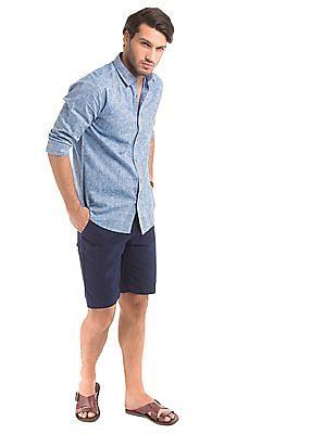 True Blue Slim Fit Heathered Shirt