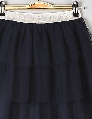 GAP Girls Blue Tulle Tiered Flippy Skirt