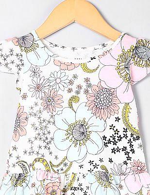 GAP Toddler Girl Pink Flutter Sleeve Peplum Top