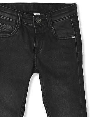Cherokee Black Girls Slim Fit Washed Jeans