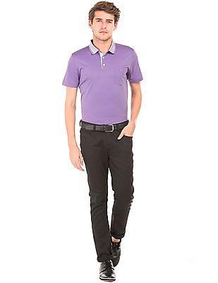 Arrow Solid Regular Fit Polo Shirt