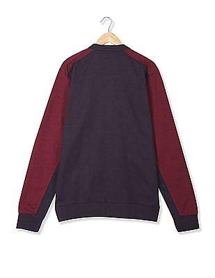 Arrow Sports Colour Block Zip Up Sweatshirt