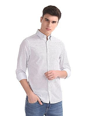 Gant Micro Nautical Print Slim Hidden Button Down Shirt