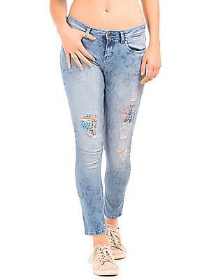 EdHardy Women Skinny Fit Distressed Jeans