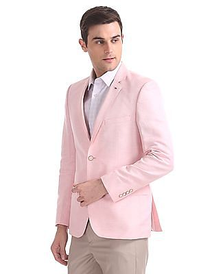 Arrow Single Breasted Linen Cotton Blazer