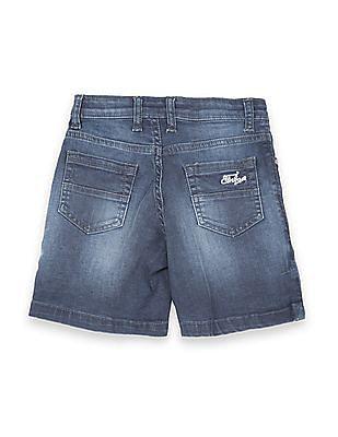 FM Boys Boys Stone Wash Denim Shorts