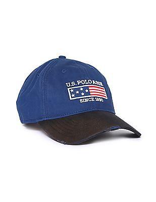 U.S. Polo Assn. Brand Applique Panelled Cap